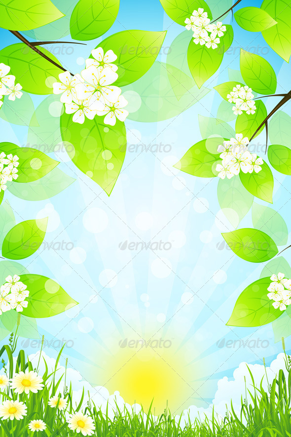 GraphicRiver Green Landscape with Grass 7131560