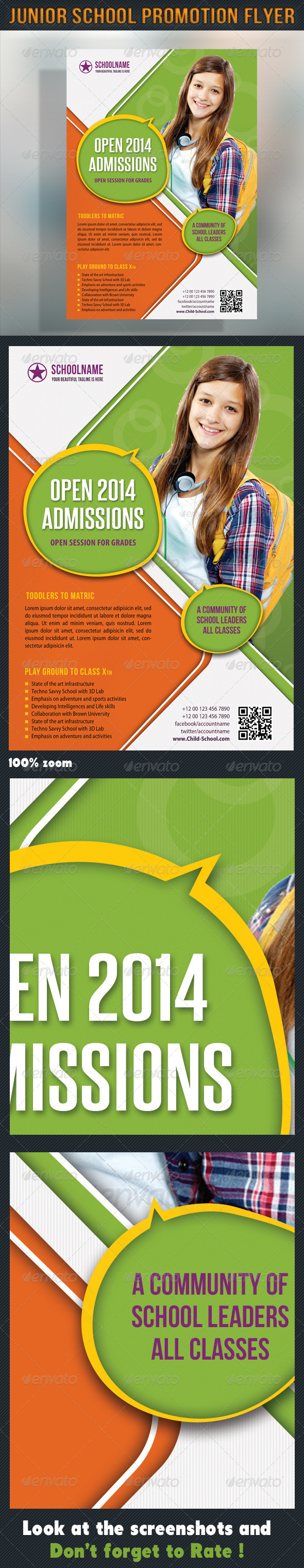 GraphicRiver Junior School Promotion Flyer 04 7131669