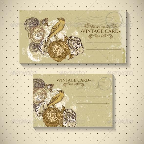 GraphicRiver Floral Vintage Card 7131722