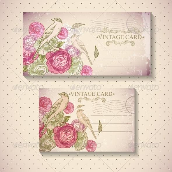GraphicRiver Floral Vintage Card 7131760