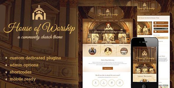 ThemeForest House Of Worship Church Wordpress Theme 7028531