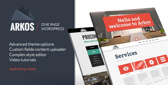 ARKOS - Wordpress Responsive One-page