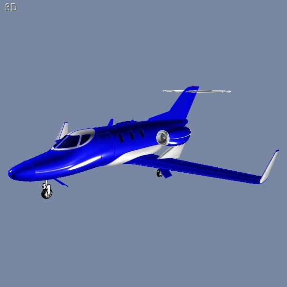 Honda Jet Private airplane - 3DOcean Item for Sale