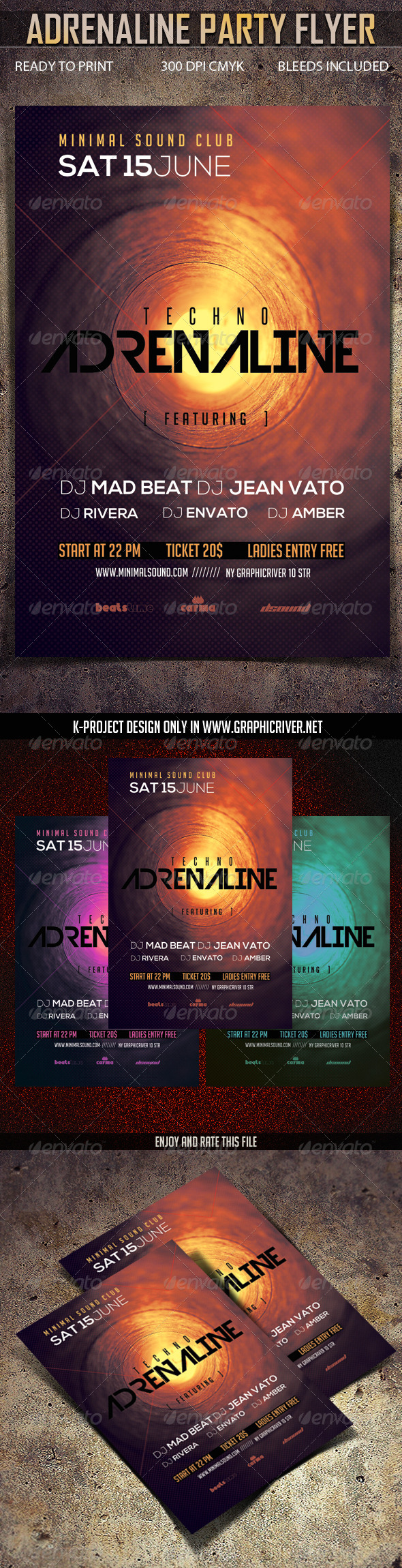 GraphicRiver Adrenaline Party Flyer 7132285