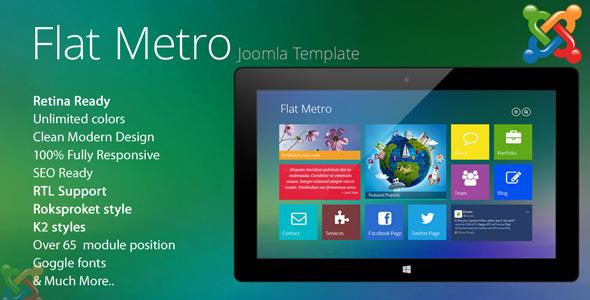 ThemeForest Flat-Metro Responsive Multi-Purpose Joomla Theme 6604117