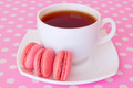 macaroon with fruit and a cup of tea - PhotoDune Item for Sale