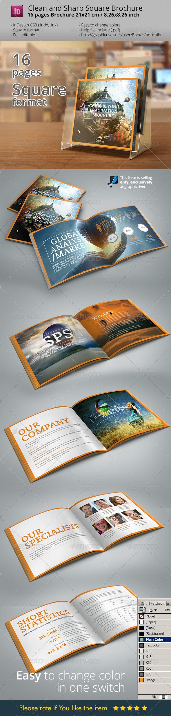 GraphicRiver Indesign Brochure Square Design 7117807