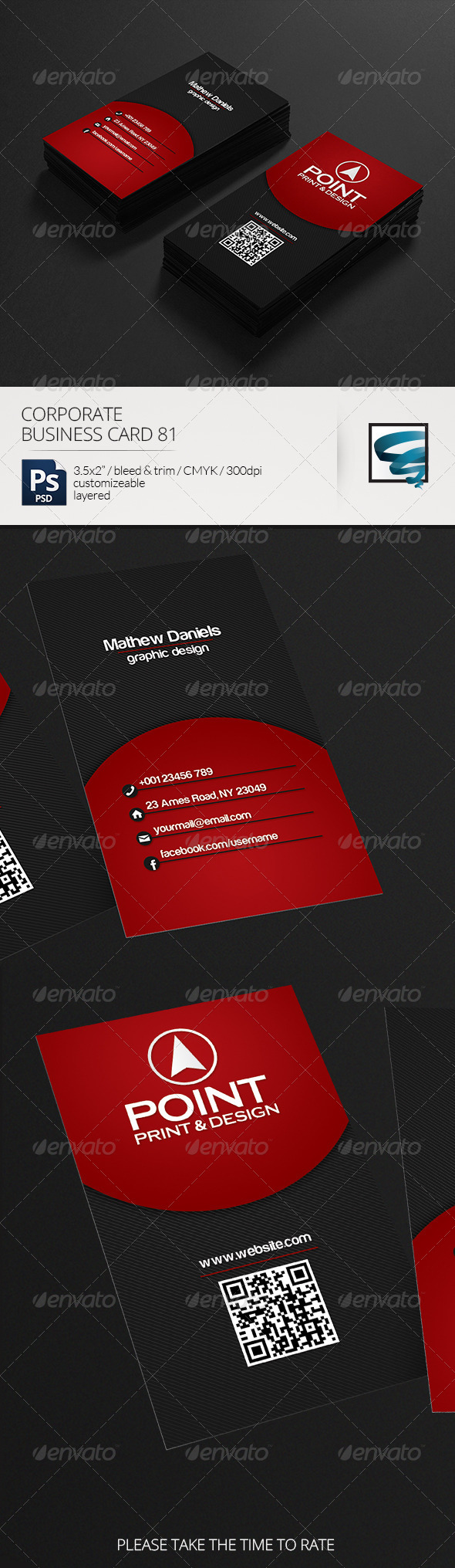 GraphicRiver Corporate Business Card 81 7132476