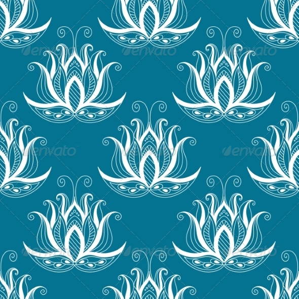 GraphicRiver Vintage Floral Repeat Seamless Pattern 7132495