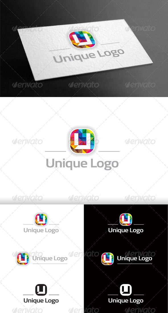 GraphicRiver Colorful Polygon Logo U 6957429