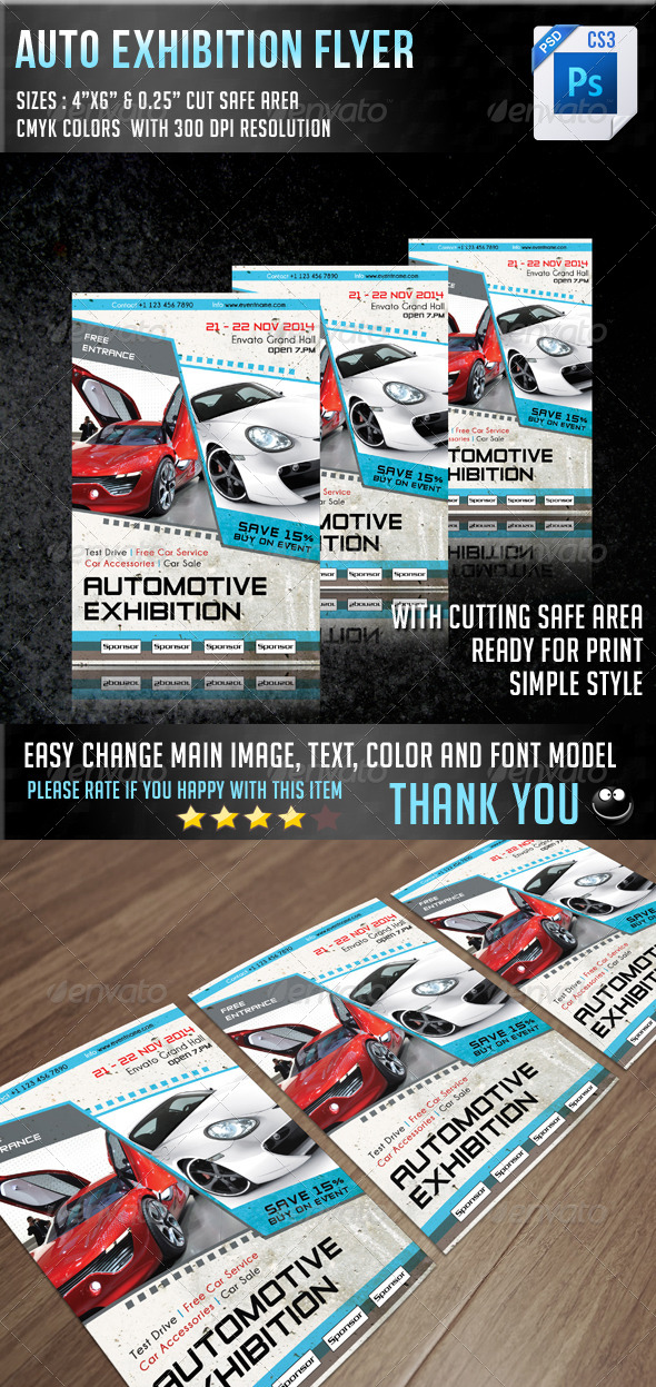 GraphicRiver Auto Exhibition Flyer V7 7106141