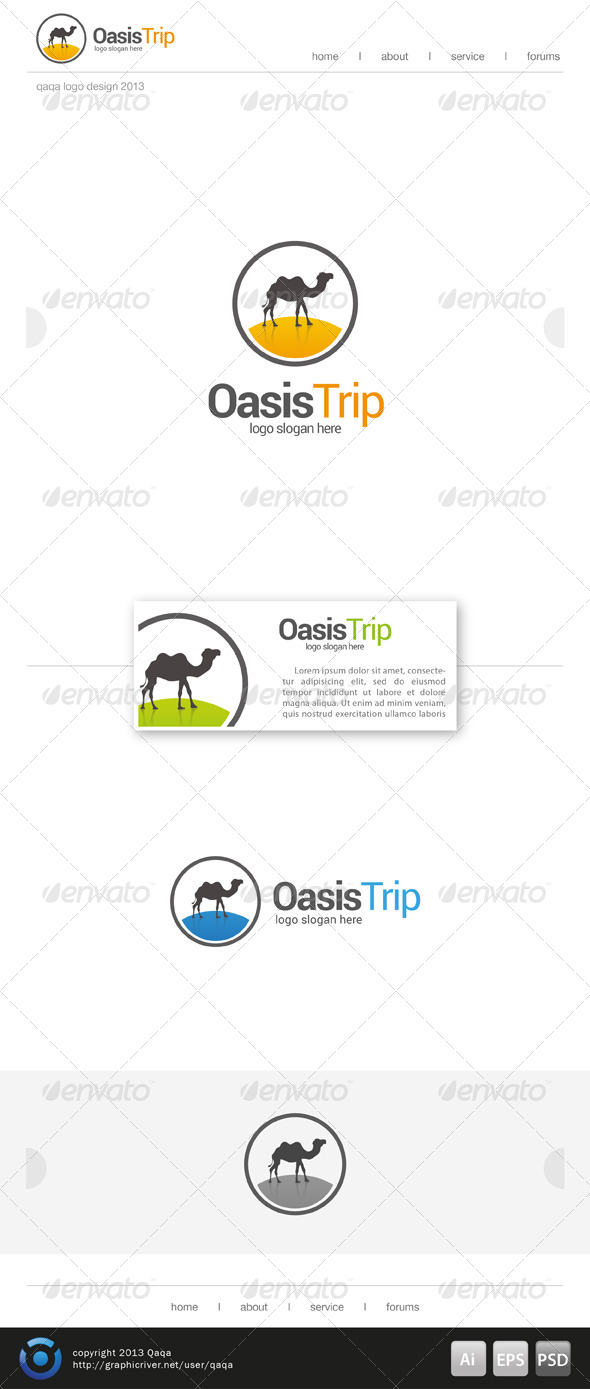 GraphicRiver Oasis Trip Logo Template 7133050