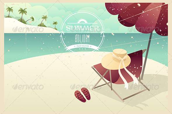 GraphicRiver Vintage Summer Poster 7133058