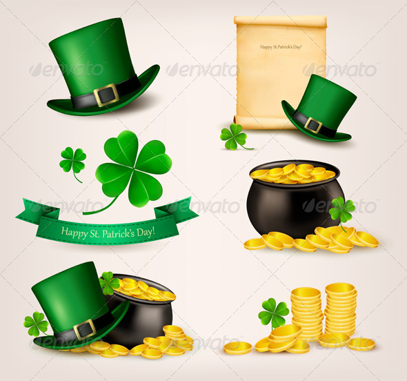GraphicRiver Set of St Patricks Day Related Icons 7133263