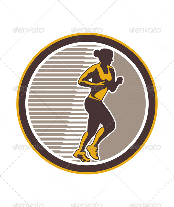 GraphicRiver Female Marathon Runner Side View 7133312