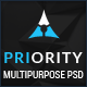 Priority | Multi-Purpose PSD Template - ThemeForest Item for Sale