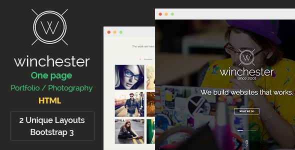 Winchester HTML Parallax One-Page Template - Creative Site Templates
