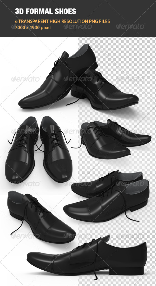 GraphicRiver 3D Formal Shoes 7133343