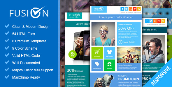 Fusion - Metro Email Newsletter Template