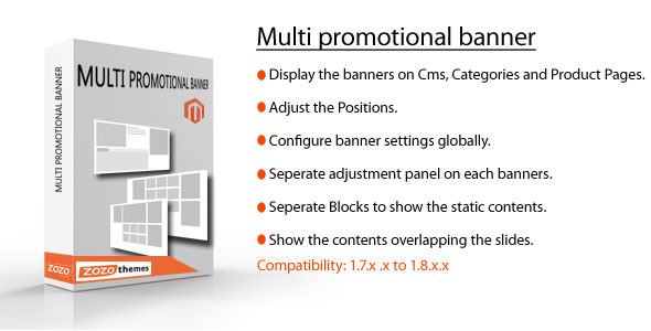 CodeCanyon Magento Multi Promotional Banner 7133502
