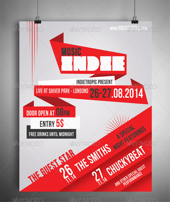 GraphicRiver INDIERED FLYER TEMPLATE 7135287