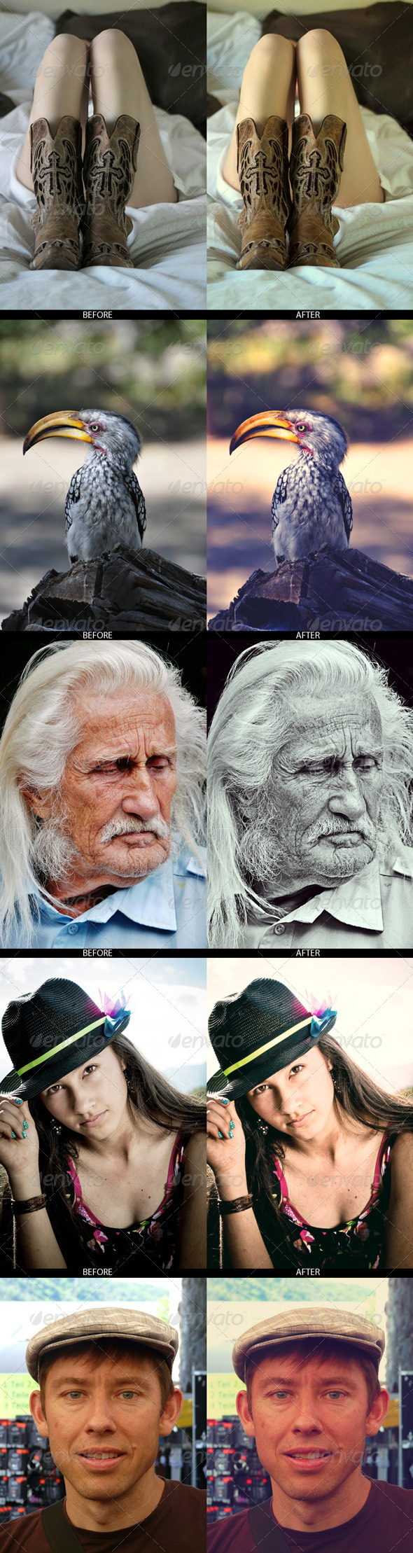 GraphicRiver 5x Professional Photo Effects 7135574
