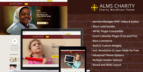 Alms Church & NGO Responsive WordPress Theme