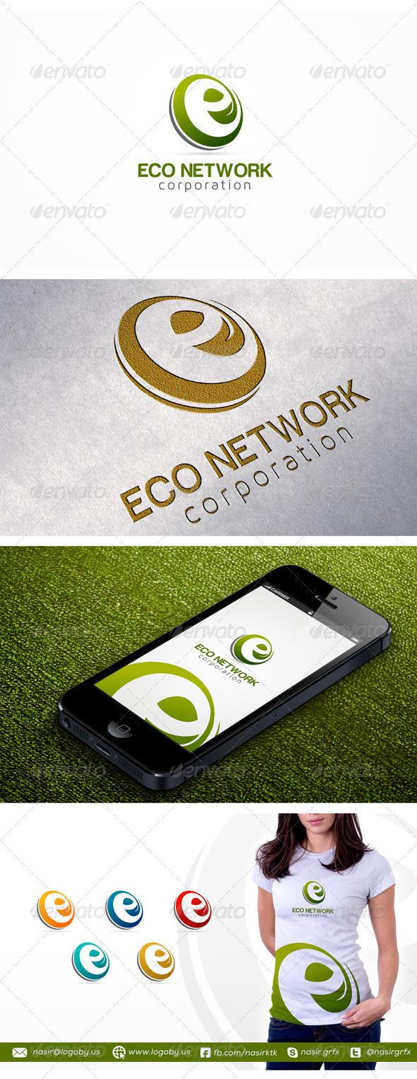 GraphicRiver E Leaf Logo 7136005