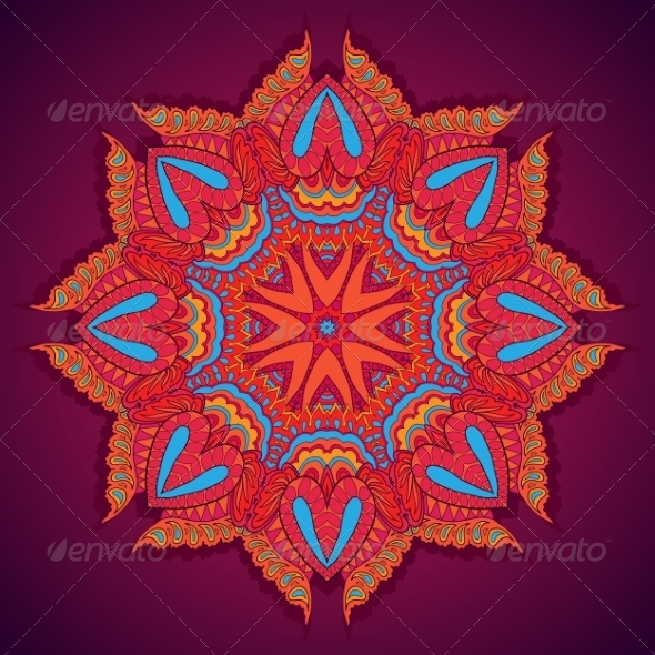 GraphicRiver Round Floral Ornament 7136041