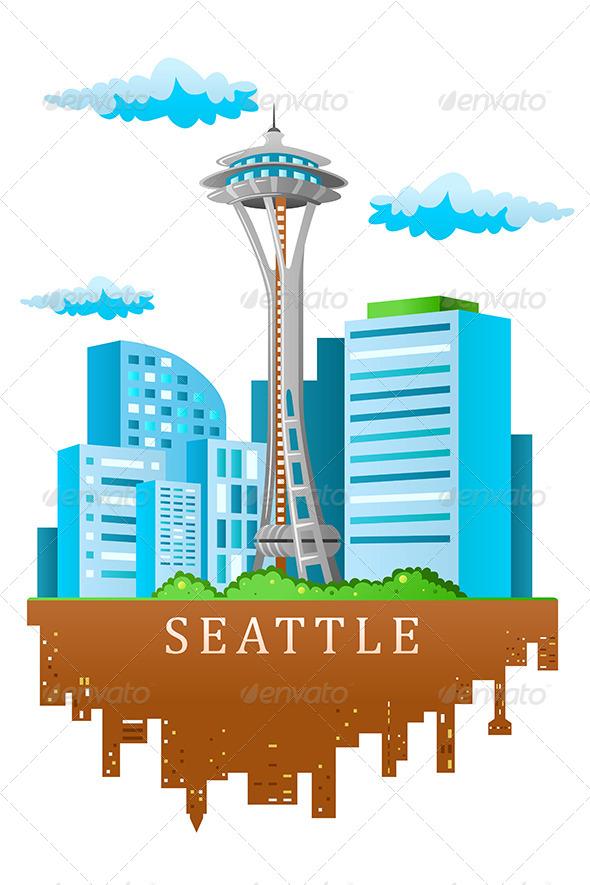 GraphicRiver Seattle Skyline 7136043