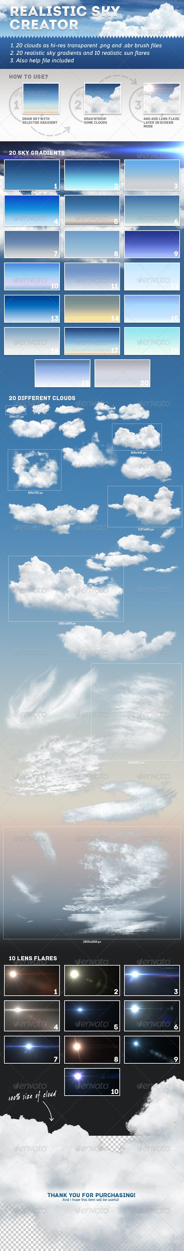 GraphicRiver Realistic Sky Creator 7136233