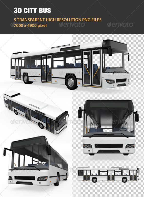 GraphicRiver 3D City Bus 7136864