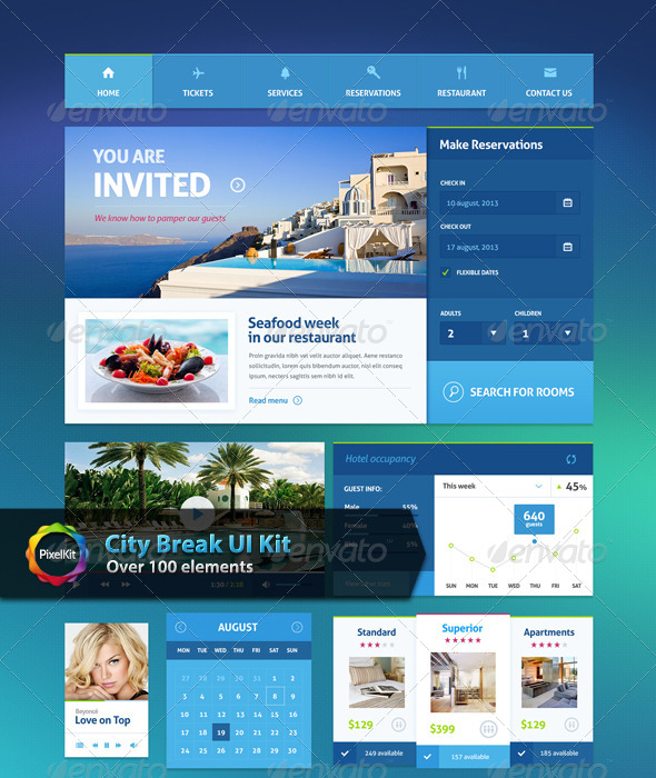GraphicRiver City Break UI Kit 7109043