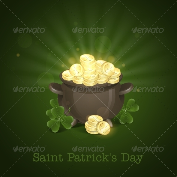 GraphicRiver St Patrick s Day Pot Of Gold 7138208