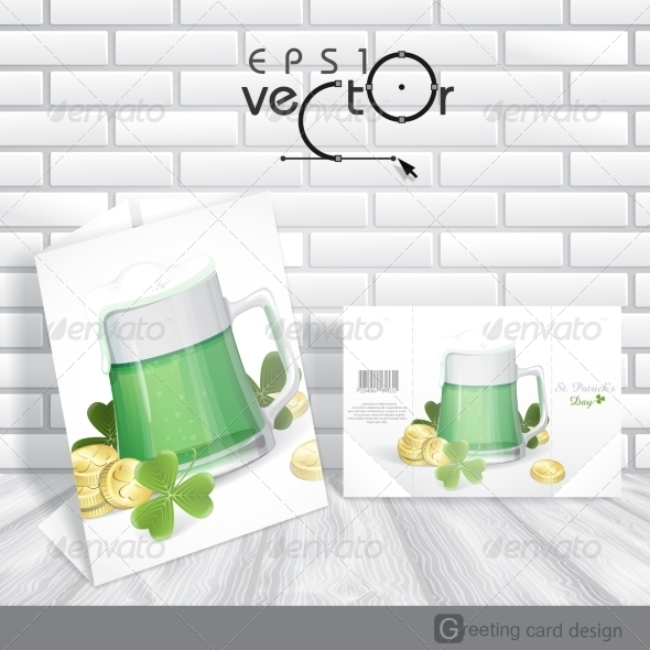 GraphicRiver Mug Of Green Beer For St Patrick s Day 7138213