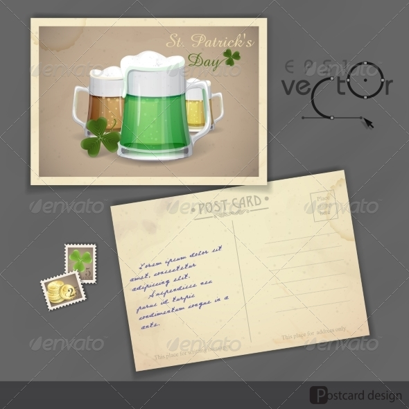 GraphicRiver Mug Of Green Beer For St Patrick s Day 7138243