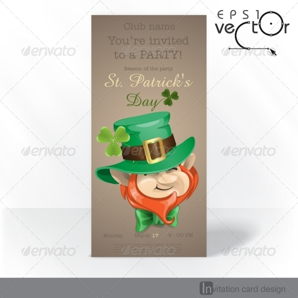 GraphicRiver St Patrick s Day Leprechaun Face 7138244