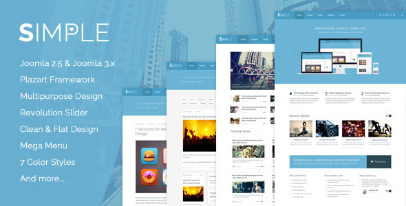 Simple Love - Multipurpose Joomla Template - Miscellaneous Joomla
