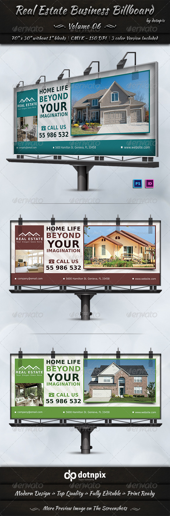 GraphicRiver Real Estate Business Billboard Volume 6 7138339