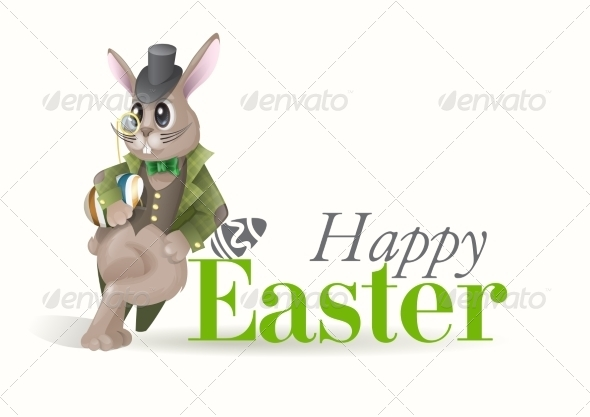 GraphicRiver Easter Background With Bunny 7138355