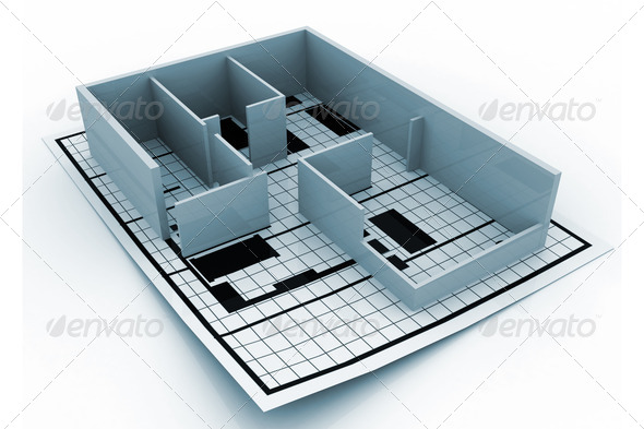 Home construction. Blueprint. (Architectural background) - Stock Photo - Images