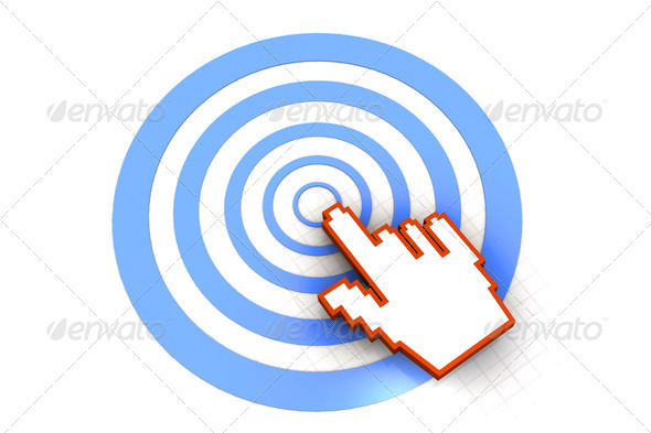 target and cursor - Stock Photo - Images