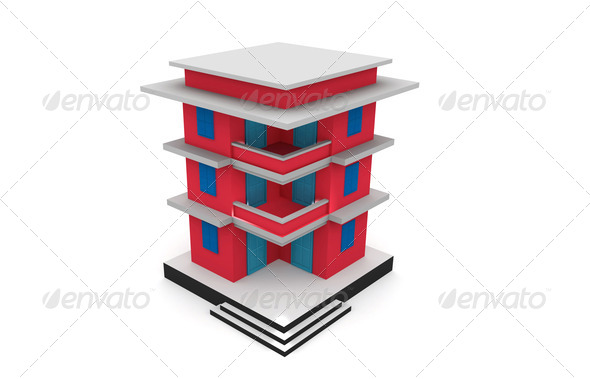 3D building model. - Stock Photo - Images