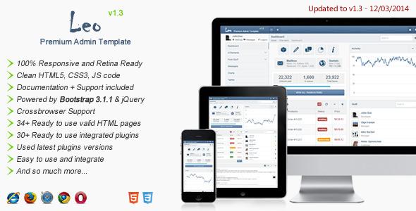 Leo - Premium Admin Template - Admin Templates Site Templates
