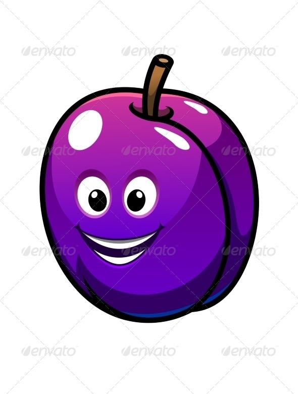 GraphicRiver Colorful Purple Plum Fruit 7139339