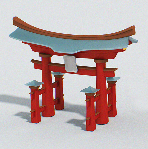 Cartoon Japan Torii - 3DOcean Item for Sale