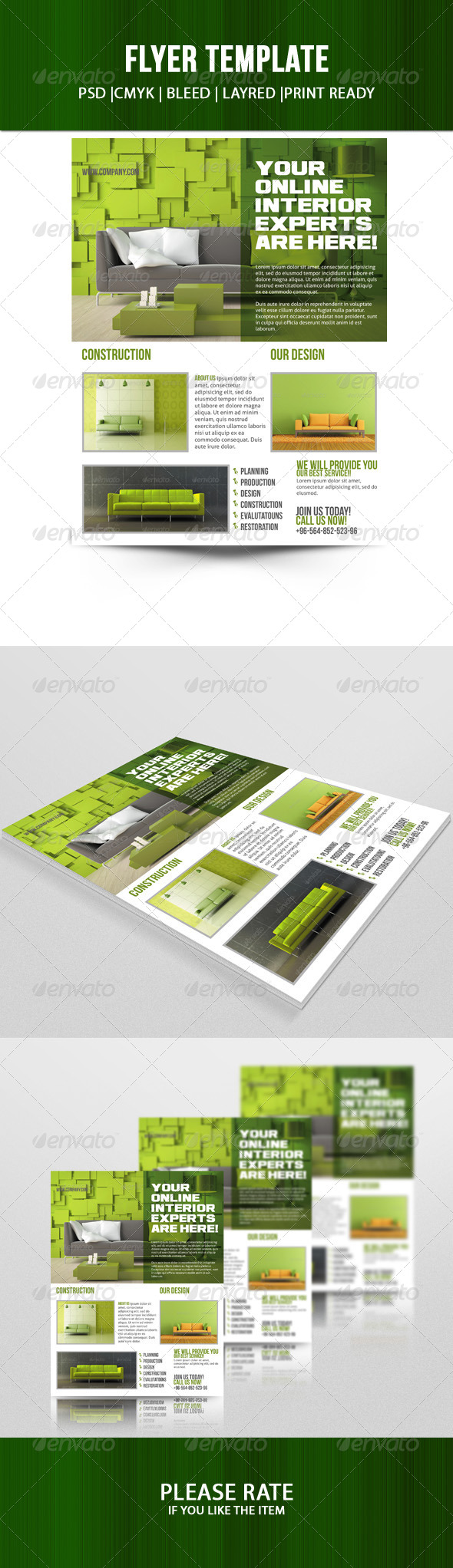 GraphicRiver Interior Flyer Template 7139393