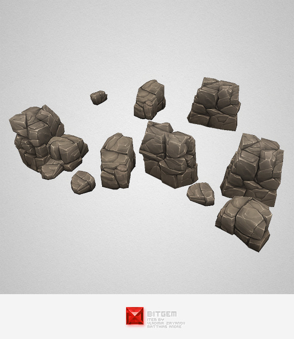 Low Poly Rock Formation 03 - 3DOcean Item for Sale
