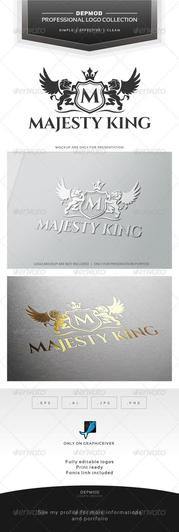 Majesty King V.02 Logo - Crests Logo Templates