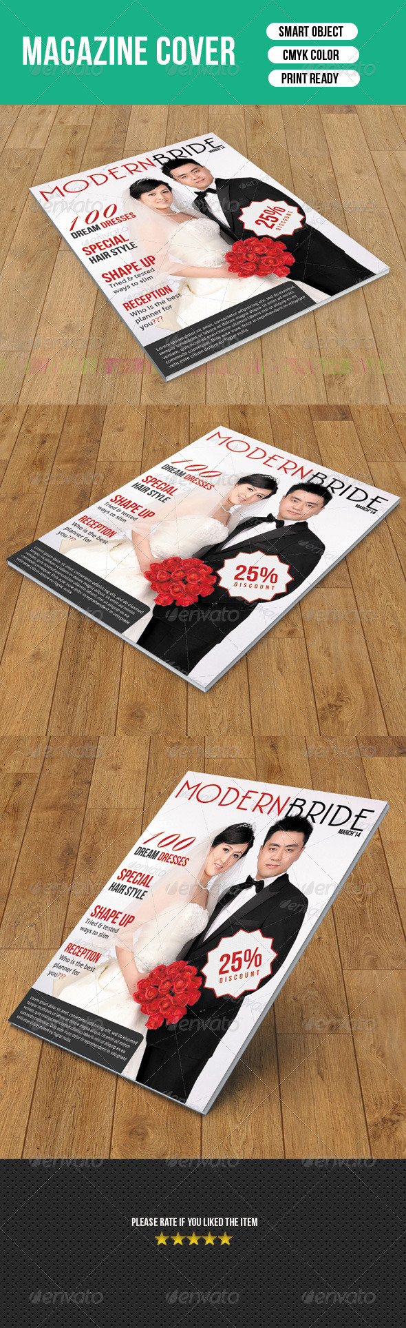 GraphicRiver Wedding Magazine Cover 7111841